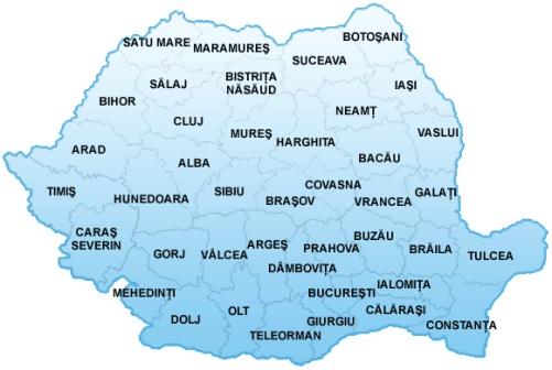 Harta Notari publici Notariate Romania